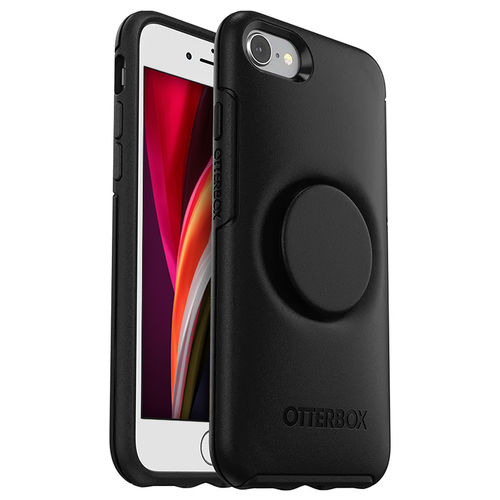 OtterBox Otter+Pop Symmetry Case for Apple iPhone 8 / 7 / SE (2nd Gen) - Black